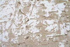 葡萄酒古老水泥背景纹理与镇压的与老油漆踪影  免版税库存照片