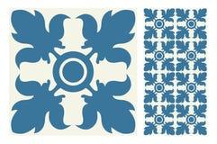 葡萄酒古色古香的无缝的设计仿造在传染媒介例证的瓦片 图库摄影