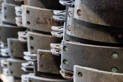 葡萄酒古色古香的汽车改制的制动靴 库存图片