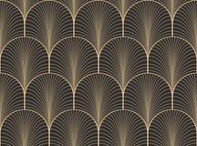 葡萄酒古色古香的调色板无缝的艺术装饰墙纸样式传染媒介 库存例证