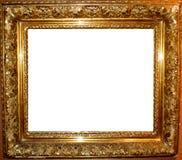 葡萄酒古色古香的金框架 库存照片