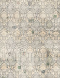 葡萄酒古色古香的锦缎剪贴薄纸张 免版税库存图片