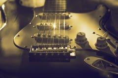 葡萄酒吉他 免版税图库摄影