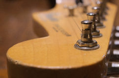 葡萄酒吉他 免版税库存图片