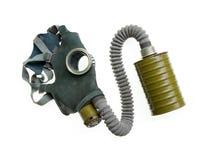 葡萄酒呼吸的防毒面具氧气第二次世界大战 图库摄影