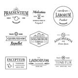 葡萄酒和减速火箭的样式商标和标号组 免版税库存图片