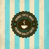 葡萄酒咖啡商标 免版税库存图片