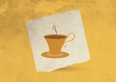 葡萄酒咖啡杯 免版税库存图片