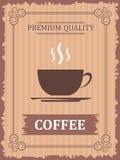 葡萄酒咖啡海报 免版税库存图片