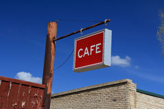 葡萄酒咖啡馆标志 免版税库存照片