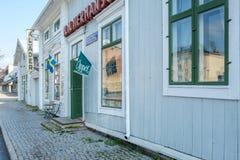 葡萄酒商店在哈帕兰达,瑞典 免版税库存图片