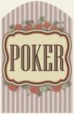 葡萄酒啤牌赌博娱乐场背景,传染媒介 库存照片