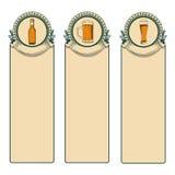 葡萄酒啤酒框架 免版税库存照片