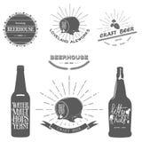 葡萄酒啤酒象征 库存照片