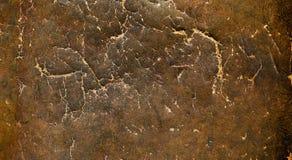 葡萄酒困厄的棕色皮革纹理 免版税库存照片