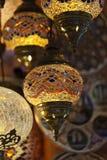 葡萄酒土耳其语灯 免版税库存照片