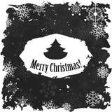 葡萄酒圣诞快乐和新年快乐 免版税库存图片