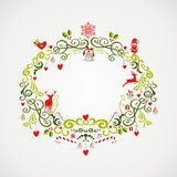 葡萄酒圣诞节元素槲寄生设计EPS10文件。 免版税库存照片