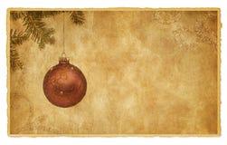 葡萄酒圣诞节明信片 免版税库存照片