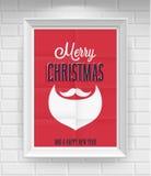 葡萄酒圣诞节海报。 向量例证