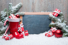 葡萄酒圣诞节装饰 免版税图库摄影