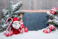 葡萄酒圣诞节装饰 免版税库存图片
