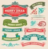 葡萄酒圣诞节集合 库存图片