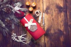 葡萄酒圣诞节题材背景 免版税库存照片