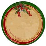 葡萄酒圣诞节card.circle模板 库存图片