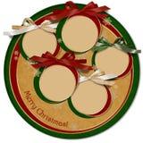 葡萄酒圣诞节card.circle模板 库存照片