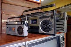 葡萄酒在古色古香的电无线电磁带retr的图象样式 图库摄影