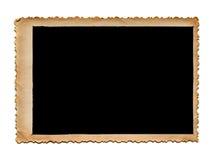 葡萄酒在白色的照片框架 免版税库存照片