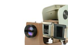 葡萄酒在白色背景隔绝的filmstrip放映机 自由s 库存照片