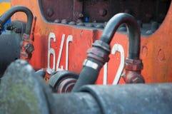 葡萄酒在驻地的蒸汽机车 免版税库存图片