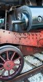 葡萄酒在驻地的蒸汽机车 免版税库存照片