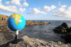 葡萄酒地球行星地球 免版税库存照片