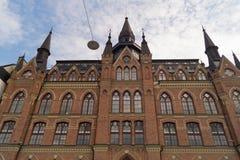 葡萄酒城堡塔在斯德哥尔摩 库存照片