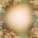葡萄酒墙纸,花卉小插图,浅褐色 皇族释放例证