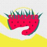 葡萄酒夏天设计模板海报 库存图片