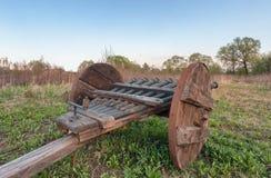 葡萄酒多被滚磨的大炮- ribaudequin 图库摄影