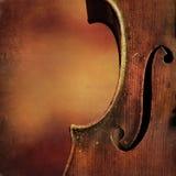 葡萄酒大提琴背景 免版税库存照片