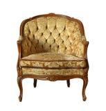 葡萄酒天鹅绒椅子 库存照片