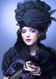 葡萄酒夫人。 免版税图库摄影