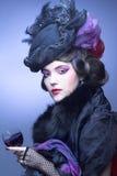 葡萄酒夫人。 免版税库存图片