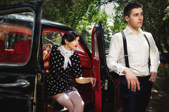 葡萄酒夫妇。 免版税图库摄影