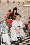 葡萄酒头发和美容院 免版税图库摄影