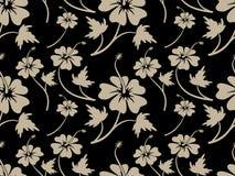 葡萄酒奶油色木槿花纹花样设计 皇族释放例证