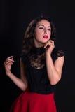 葡萄酒好莱坞女演员 免版税库存照片