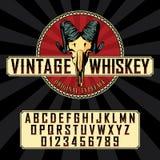 葡萄酒威士忌酒标签字体海报 免版税图库摄影