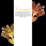 葡萄酒威尼斯式狂欢节面具 免版税库存照片